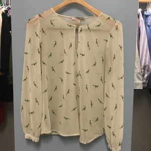 🦜green parakeet blouse 🦜